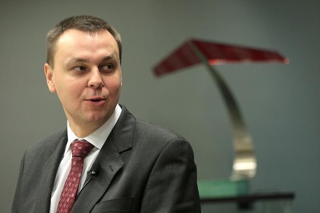 Leszek Kasperski, prezes Caspar Asset Management, podczas pierwszego notowania /PAP