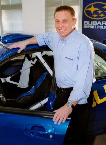 Leszek Kuzaj i Subaru (kliknij) /INTERIA.PL
