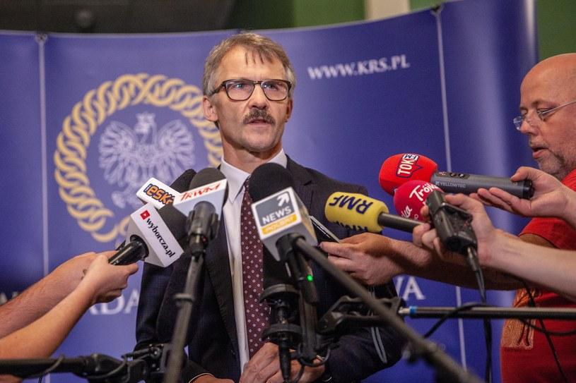 Leszek Mazur, przewodniczący Krajowej Rady Sądownictwa /Grzegorz Banaszak/REPORTER /Reporter