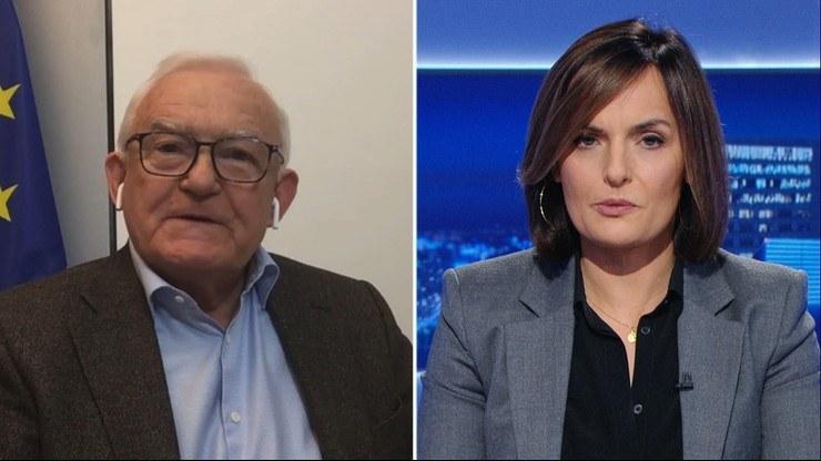 """Leszek Miller w programie """"Gość Wydarzeń"""" /Polsat News"""