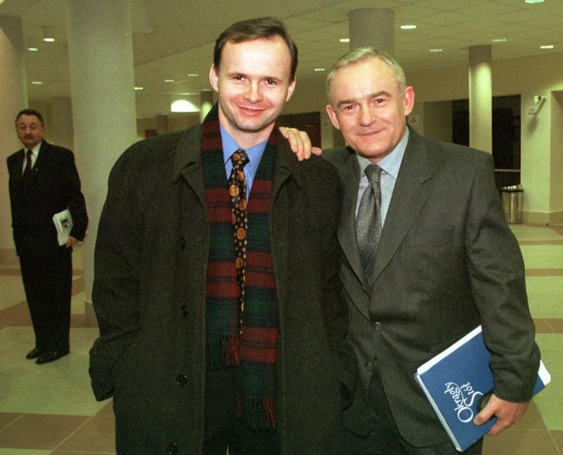 Leszek Miller z synem Leszkiem Millerem Juniorem /Andrzej Iwańczuk /Reporter