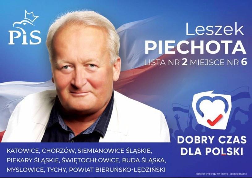 Leszek Piechota zamieścił tę grafikę na swoim facebookowym profilu 26 sierpnia /Facebook