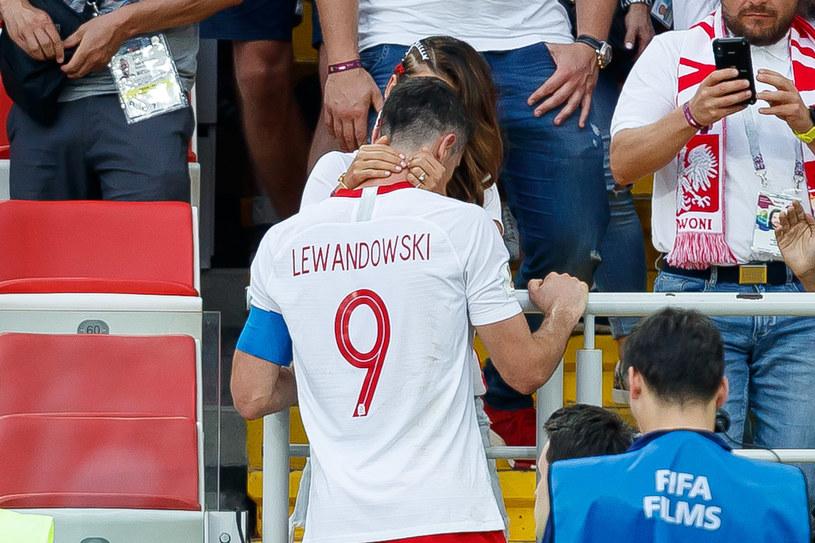 Lewandowscy podczas Mistrzostw Świata w 2018 roku /TF-Images/Getty Images /Getty Images
