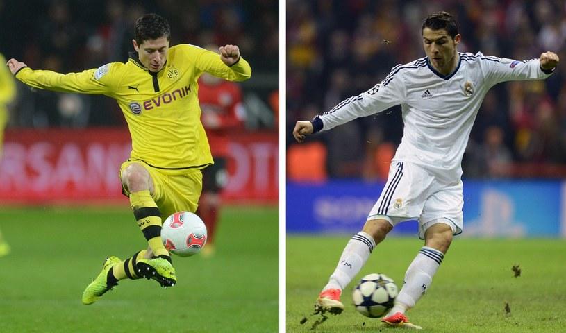 Lewandowski i Ronaldo - tylko oni mają realną szansą na tytuł króla strzelców /AFP