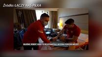 Lewandowski wyjaśnia kiedy doszło do kontuzji kolana. Wideo