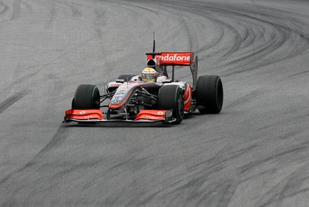 Lewis Hamilton na torze Catalunya /AFP