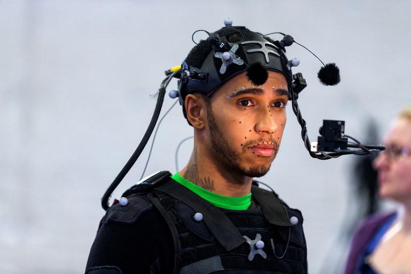 Lewis Hamilton podczas sesji motion-capture do gry Call of Duty: Infinite Warfare /materiały prasowe