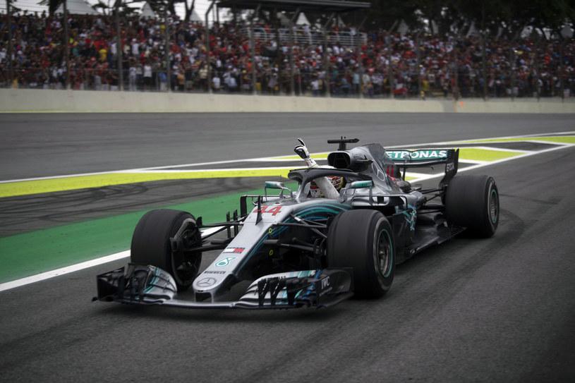 Lewis Hamilton wygrał wyścig na Interlagos w 2018 roku /AFP