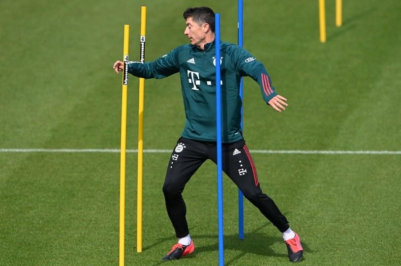 """""""Lewy"""" podczas zajęć 15 kwietnia w ośrodku Bayernu Monachium /AFP"""