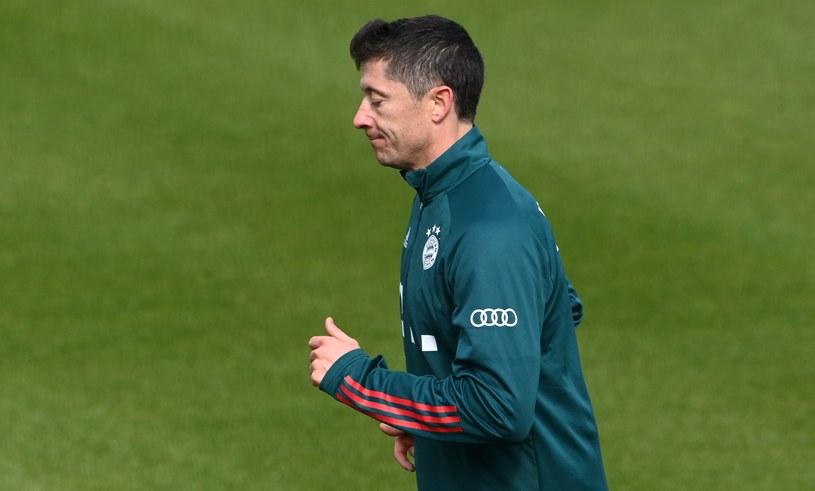 """""""Lewy"""" podczas zajęć w ośrodku Bayernu Monachium. /AFP"""