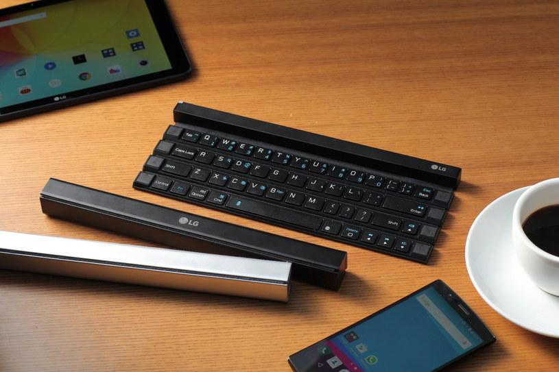 LG Rolly Keyboard - nietypowy, ale bardzo udany pomysł na klawiaturę dla urządzeń mobilnych /materiały prasowe