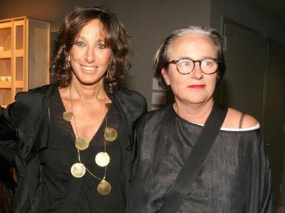 Li Edelkoort (z prawej) z projektantką mody, Donną Karan  /Janerik Henriksson /East News