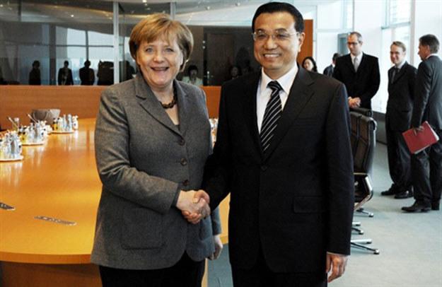 Li Keqiang z Angelą Merkel /AFP