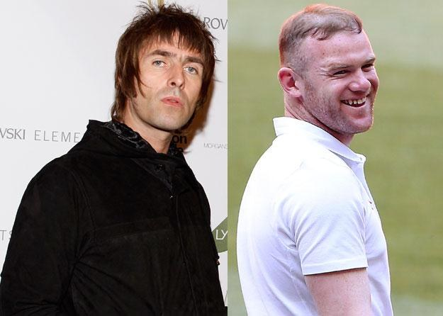 "Liam Gallagher (fot. Mark Von Holden) i ""balon posypany ciasteczkami"" fot. Scott Heavey /Getty Images/Flash Press Media"