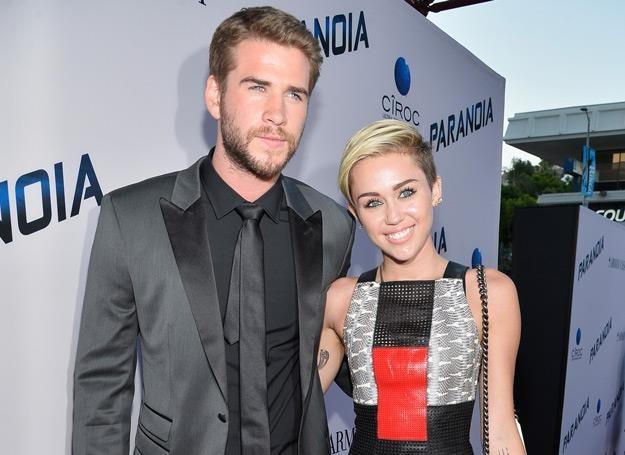 Liam Hemsworth i Miley Cyrus jeszcze razem na początku sierpnia 2013 r. - fot. Frazer Harrison /Getty Images/Flash Press Media