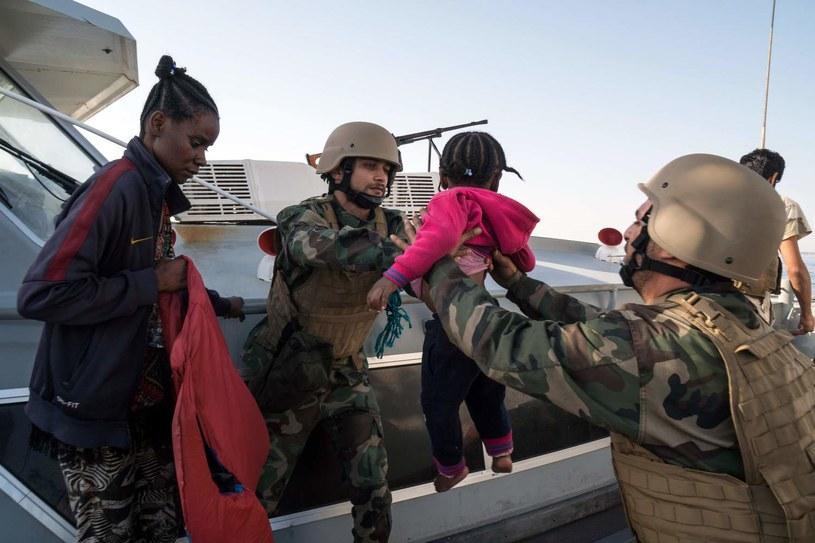Libia, akcja ratunkowa na morzu /AFP