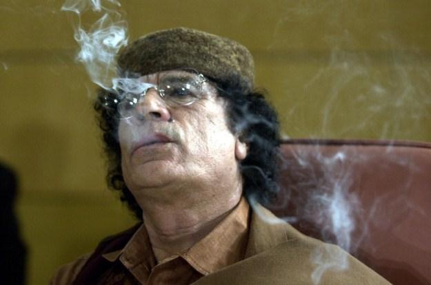 Libijski przywódca Muammar Kadafi /AFP