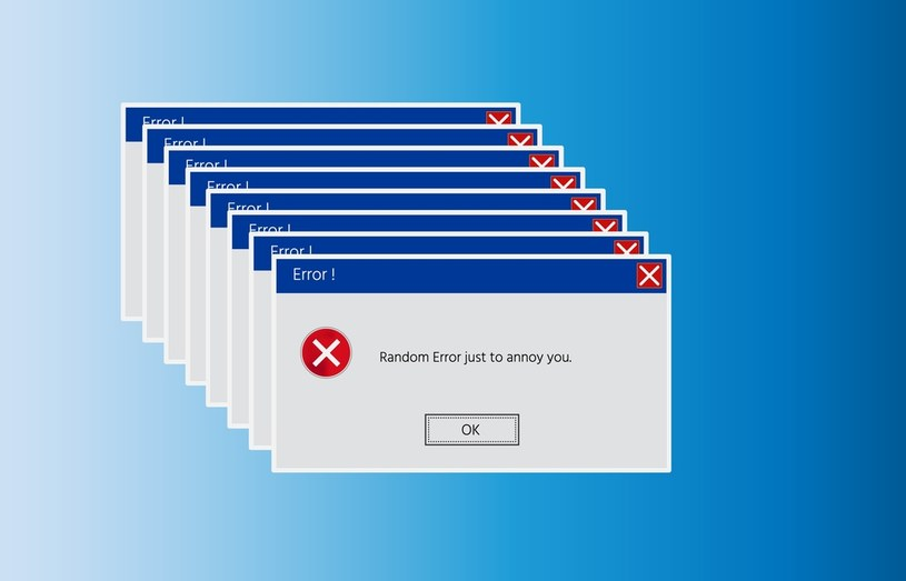 Liczne komunikaty o błędach mogą świadczyć o problemie /123RF/PICSEL