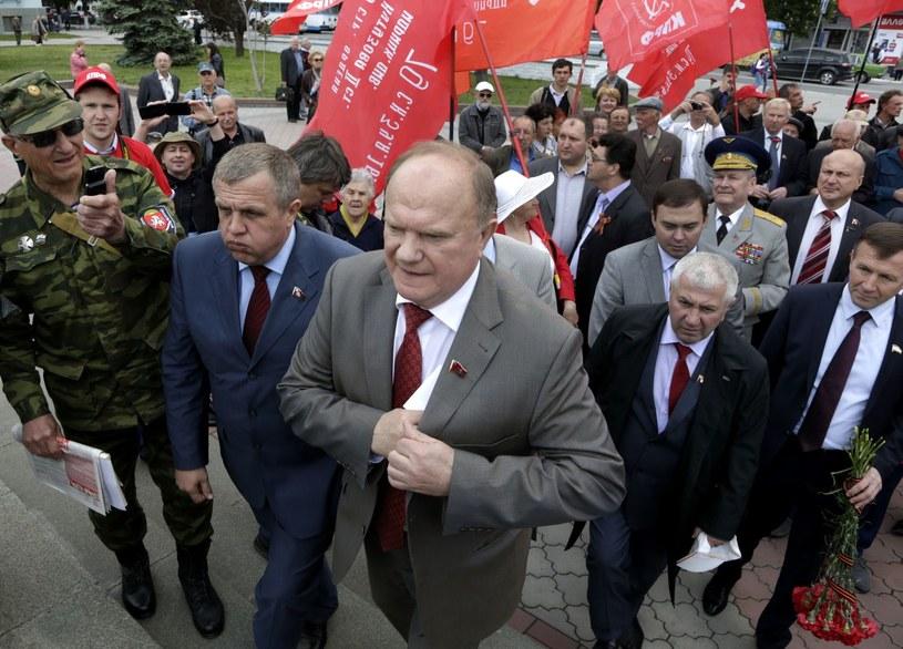 Lider Komunistycznej Partii Federacji Rosyjskiej Giennadij Ziuganow /AFP