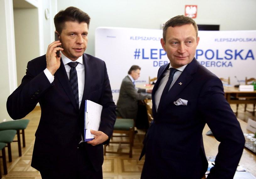 Lider Nowoczesnej Ryszard Petru i Paweł Rabiej /Tomasz Gzell /PAP
