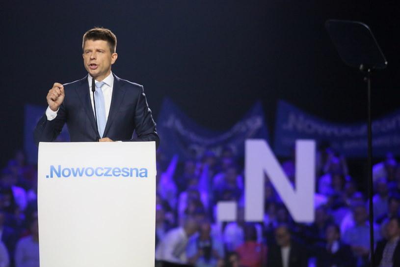 Lider Nowoczesnej Ryszard Petru podczas konwencji programowej Nowoczesnej /Leszek Szymański /PAP