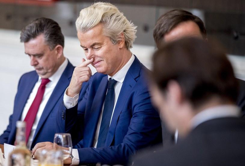 Lider Partii na rzecz Wolności (PVV) Geert Wilders /AFP