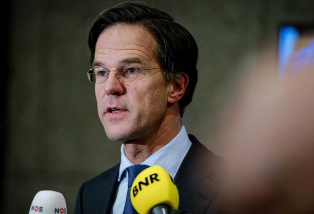 Lider partii VVD Mark Rutte /BART MAAT /PAP/EPA