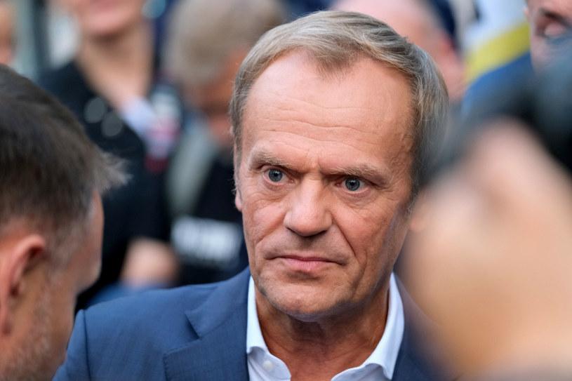 Lider Platformy Obywatelskiej Donald Tusk /Mateusz Grochocki /East News