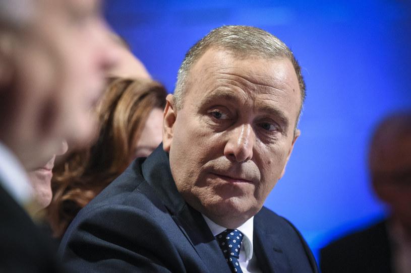 Lider Platformy Obywatelskiej Grzegorz Schetyna pytany był o plany Donalda Tuska w Polsat News /Jacek Dominsk /East News