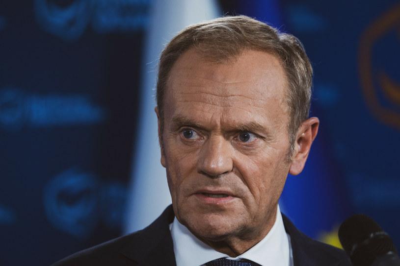 Lider PO Donald Tusk /Jacek Domiński /Reporter