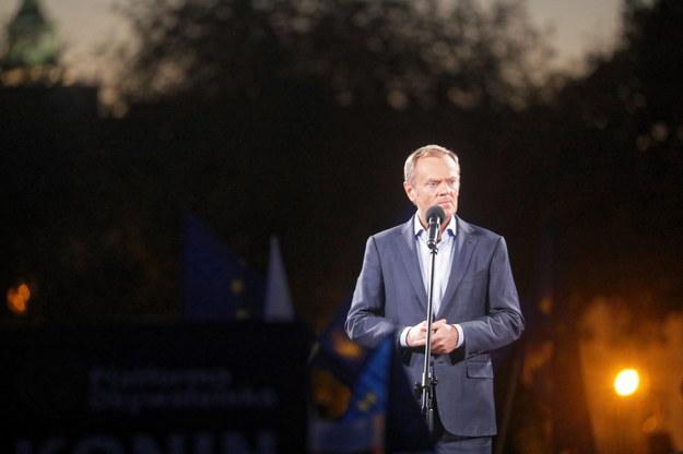 Lider PO Donald Tusk /Albert Zawada /PAP