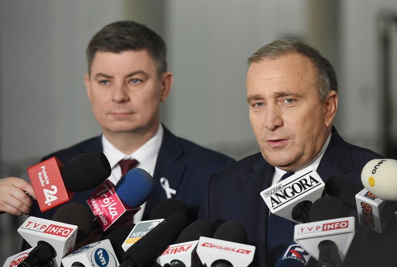 Lider PO Grzegorz Schetyna i poseł PO Jan Grabiec /Radek Pietruszka /PAP