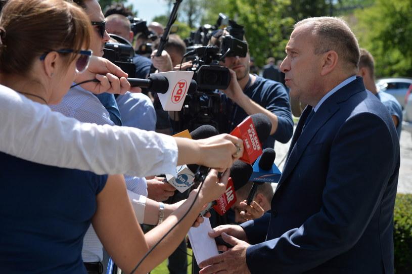 Lider PO Grzegorz Schetyna przed posiedzeniem Rady Bezpieczeństwa Narodowego /Jacek Turczyk /PAP