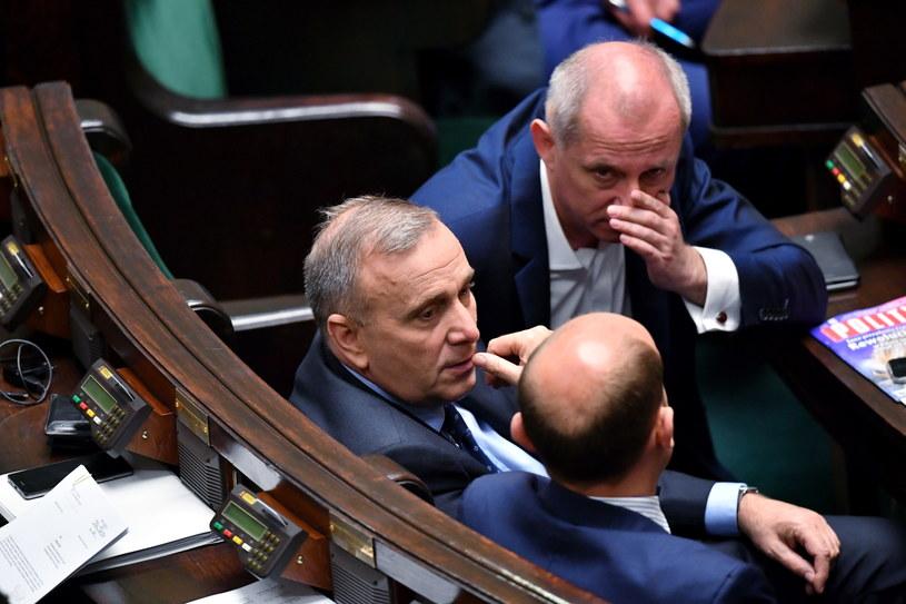 Lider PO Grzegorz Schetyna, szef Klubu Parlamentarnego PO Sławomir Neumann i Borys Budka /PAP