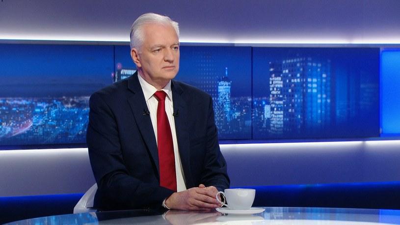 Lider Porozumienia Jarosław Gowin /Polsat News