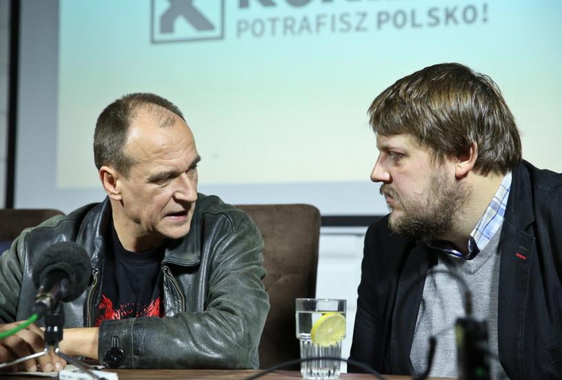 Lider ruchu Kukiz'15 Paweł Kukiz oraz Piotr Apel /Rafał Guz /PAP