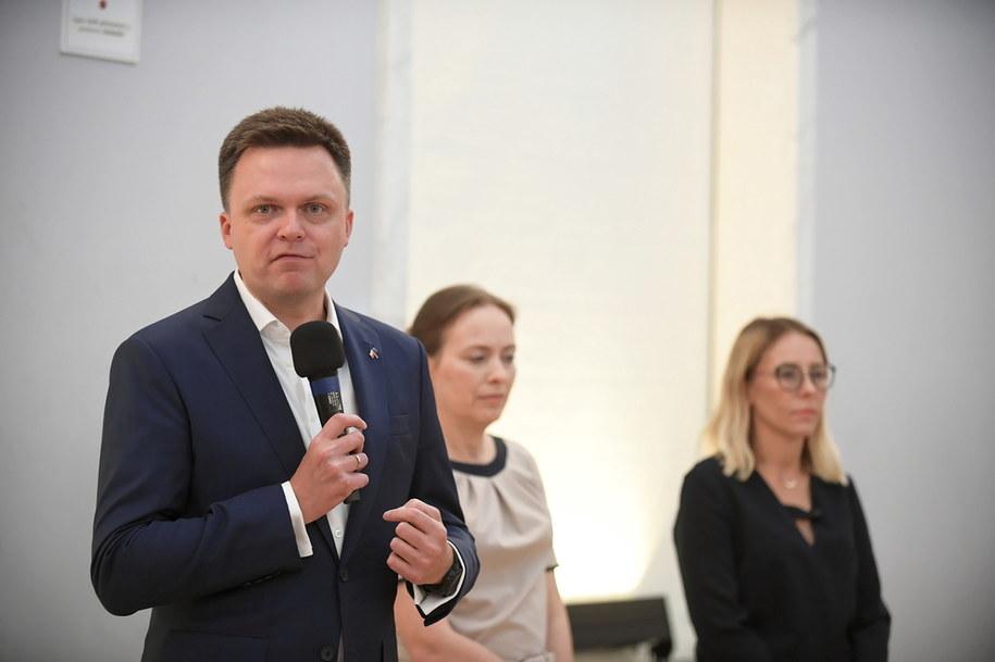 Lider Ruchu Polska 2050 Szymon Hołownia / Marcin Obara  /PAP