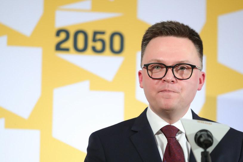 Lider ruchu Polska 2050 Szymon Hołownia /Piotr Molecki /East News