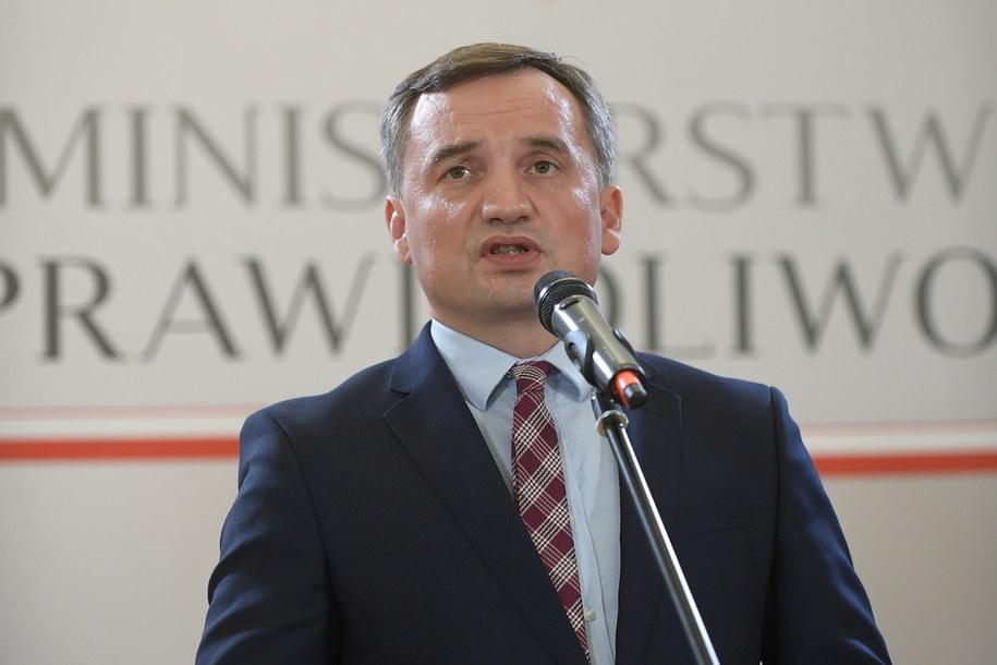 Lider Solidarnej Polski, minister sprawiedliwości Zbigniew Ziobro / Marcin Obara  /PAP