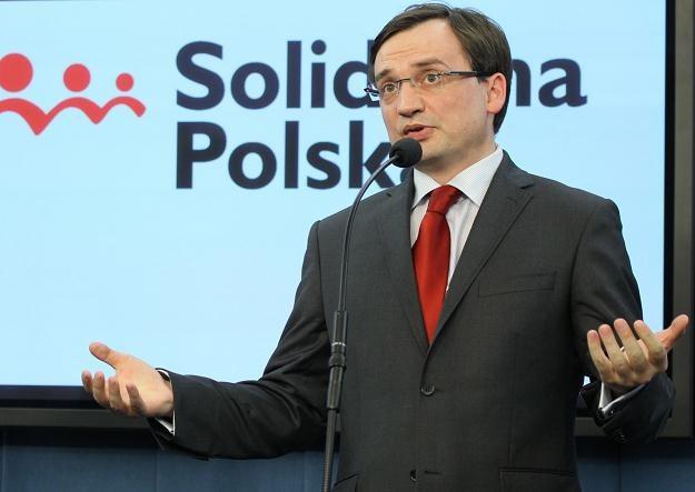 Lider Solidarnej Polski Zbigniew Ziobro, fot. Radek Pietruszka /PAP