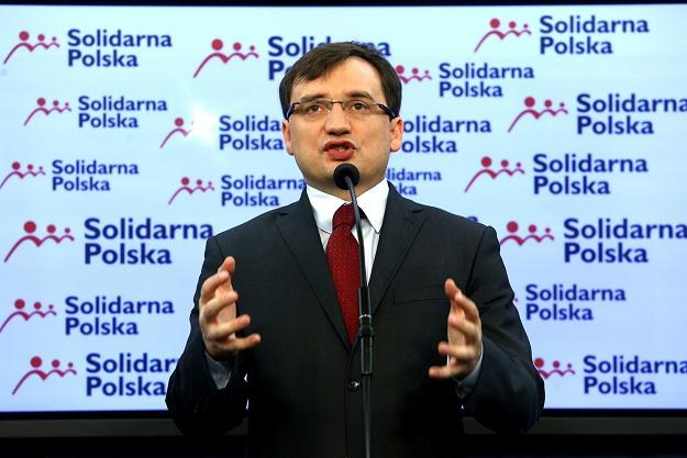 Lider Solidarnej Polski, Zbigniew Ziobro, fot. Tomasz Gzell /PAP