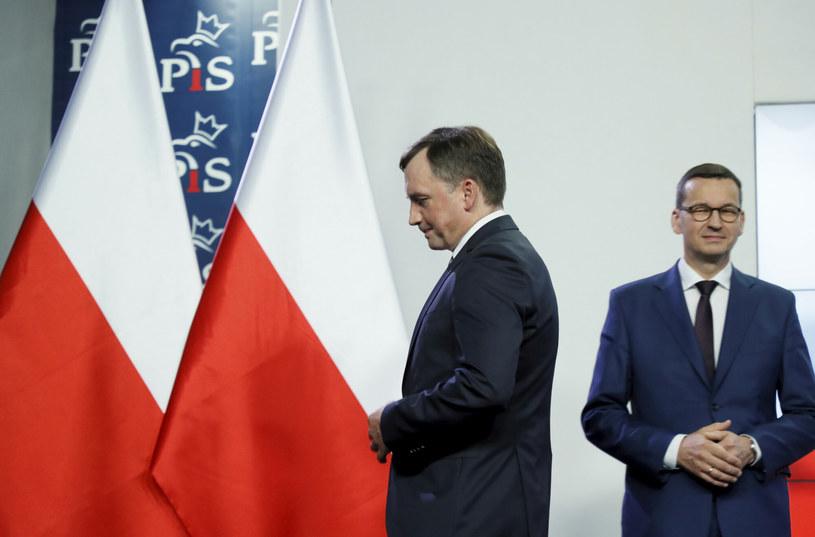 Lider Solidarnej Polski Zbigniew Ziobro i premier Mateusz Morawiecki /Fot. Piotr Molecki /East News