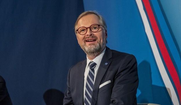Lider SPOLU Petr Fiala /Martin Divisek /PAP/EPA