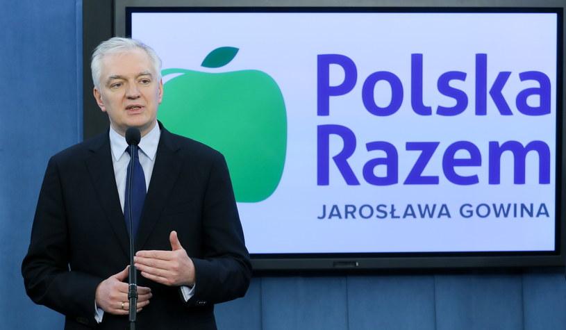 Lider ugrupowania Polska Razem Jarosław Gowin /Paweł Supernak /PAP