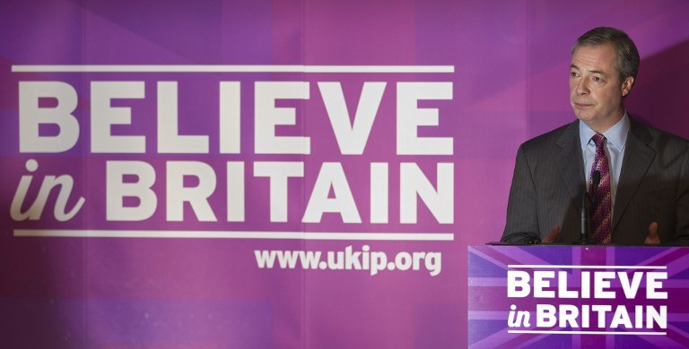 Lider UKIP - Nigel Farage /AFP