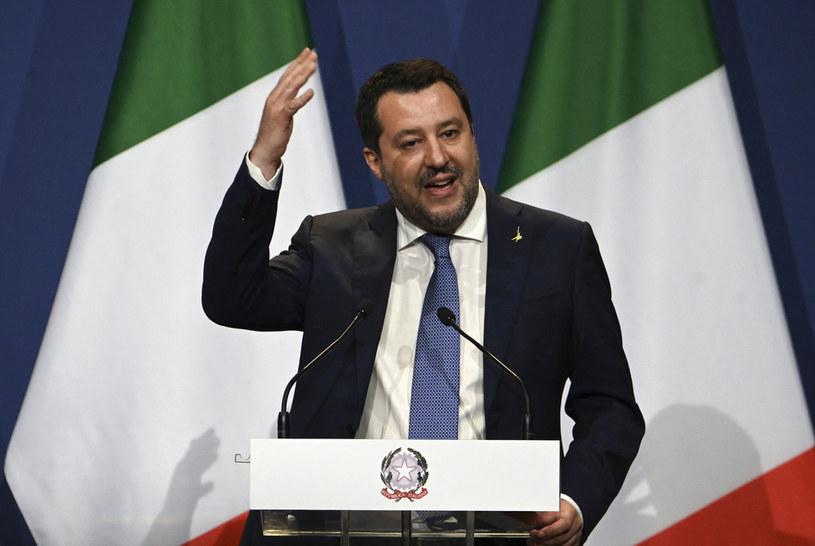 Lider włoskiej Ligi Matteo Salvini /Attila Kisbenedek /AFP