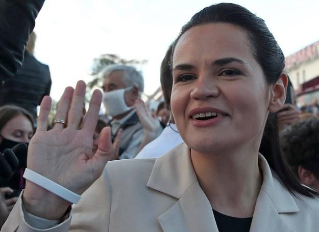 Liderka białoruskiej opozycji Swiatłana Cichanouska /Natalia Fedosenko /PAP/ITAR-TASS