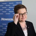 Liderka Nowoczesnej: Odejście Joanny Schmidt nie zaskakuje
