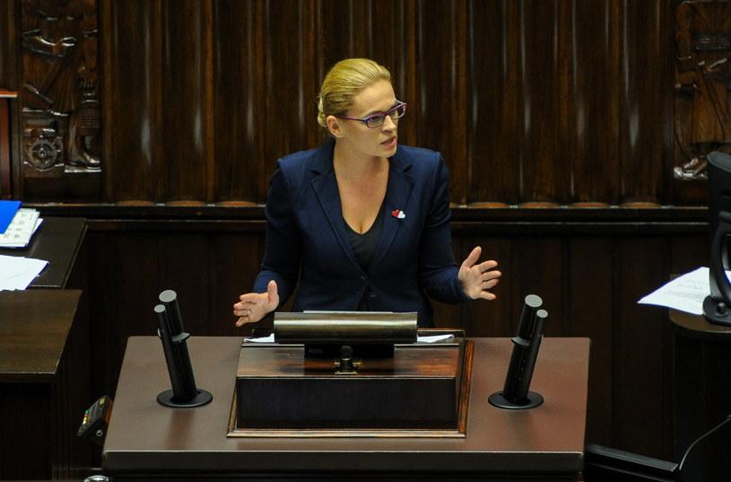 Liderka stowarzyszenia Inicjatywa Polska Barbara Nowacka podczas debaty nt. ustawy aborcyjnej /Marcin Obara /PAP