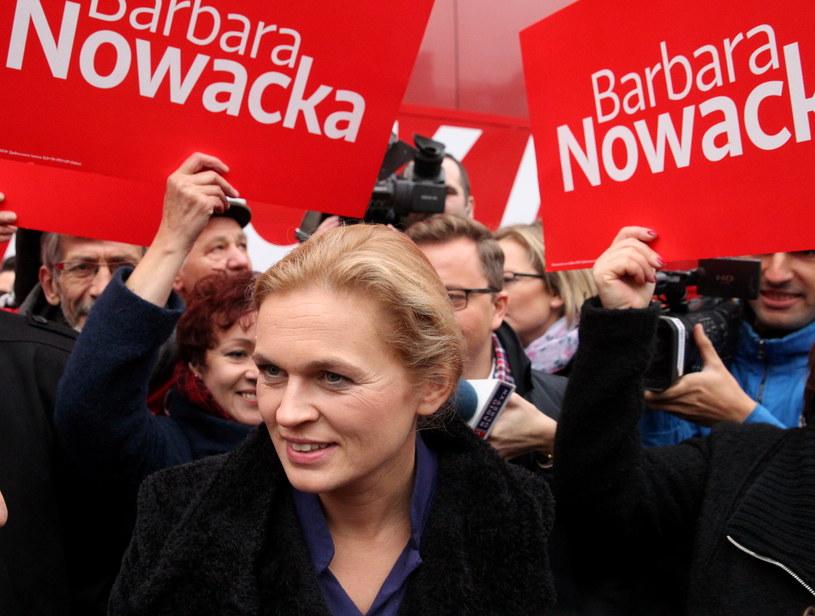 Liderka Zjednoczonej Lewicy i kandydatka partii na premiera - Barbara Nowacka /Tomasz Waszczuk /PAP
